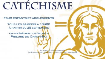 Annonce catéchismes, rentrée 2021, Bruxelles